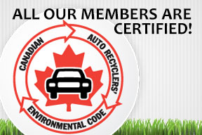 Canadian auto recyclers environmental code