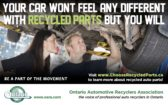 Your car won't feel any different with Recycled Parts but you will